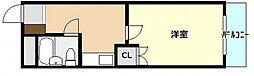 ミチルーム長束[4階]の間取り