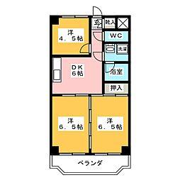 ハイム岩崎[3階]の間取り