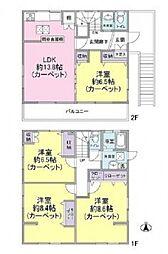 [一戸建] 東京都北区西が丘1丁目 の賃貸【/】の間取り
