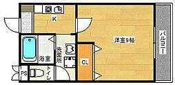 パーシモン茨木[3階]の間取り