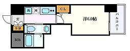 名古屋市営東山線 千種駅 徒歩11分の賃貸アパート 5階1Kの間取り