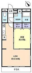 千葉県船橋市新高根6丁目の賃貸アパートの間取り