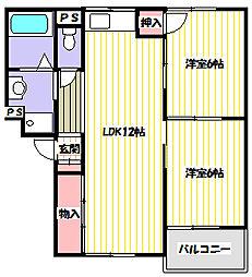 薊マンション[2階]の間取り