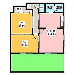 ポートビュー[1階]の間取り