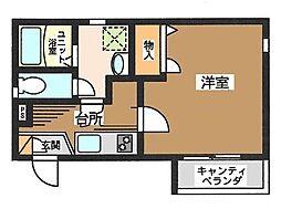 東京都台東区日本堤1丁目の賃貸マンションの間取り