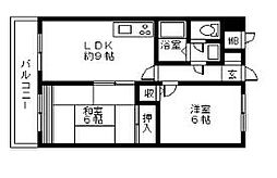 神奈川県海老名市河原口2丁目の賃貸マンションの間取り