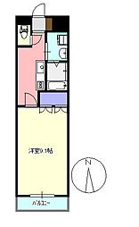 メゾンドコア2番館[1階]の間取り