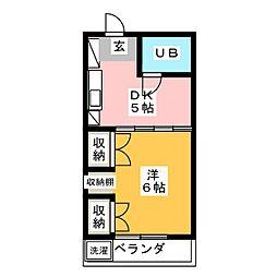 コンフォルム八幡[4階]の間取り