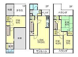 秋田アーバンハウス[D-1号室]の間取り