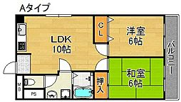 YKハイツ[2階]の間取り