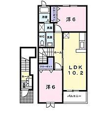 セレーノ並木壱番館[2階]の間取り