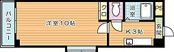 第11エルザビル[15階]の間取り