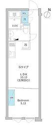 東京メトロ有楽町線 護国寺駅 徒歩9分の賃貸マンション 2階1LDKの間取り