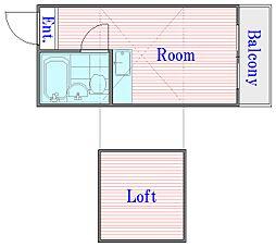 メゾンハピ−Ⅰ[1階]の間取り