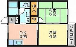 岡山県岡山市北区十日市東町の賃貸アパートの間取り