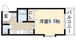 愛知県名古屋市名東区社が丘1丁目の賃貸マンションの間取り