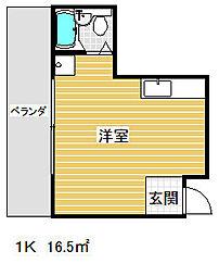 平野エスペランス[5階]の間取り