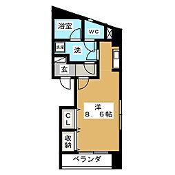 オーキッドビル白鳥[4階]の間取り