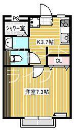 カンパーニュA棟[1階]の間取り