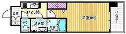 JR東西線 海老江駅 徒歩10分の賃貸マンション 2階1Kの間取り