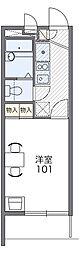 Osaka Metro今里筋線 清水駅 徒歩10分の賃貸マンション 2階1Kの間取り