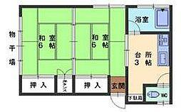 広島県呉市内神町の賃貸マンションの間取り
