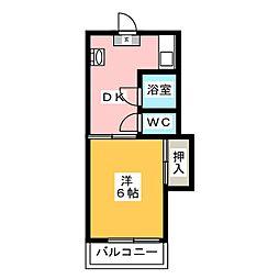 ホワイトランドコーポラス[3階]の間取り