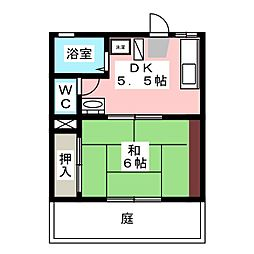 ハイツアイザワ[1階]の間取り
