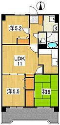 エステート南大泉[2階]の間取り