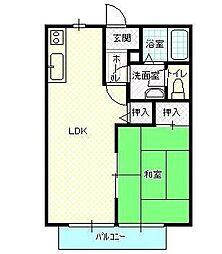 エクセルコートA棟[105号室号室]の間取り