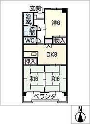 ウィンザーK&Yマンション[4階]の間取り