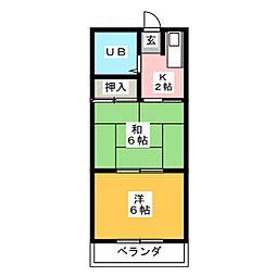 セイワコーポ[2階]の間取り