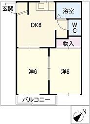 スカイルコスモスA・B棟[1階]の間取り