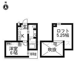 WEST9京都駅[101号室]の間取り