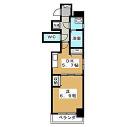 綾小路パレス[6階]の間取り