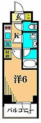 プレミアムキューブ大井町mo 4階1Kの間取り