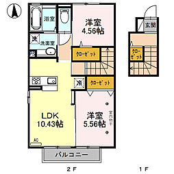 (仮)D-room川中島(川中島町四ツ屋)[206号室号室]の間取り