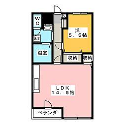 エコ・コスモIII[2階]の間取り
