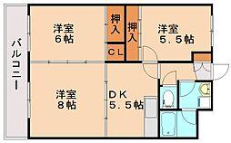 センタービル飯塚[6階]の間取り