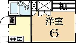 シティハイツ久津川[1階]の間取り