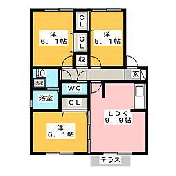 セラリッシュ B棟[1階]の間取り