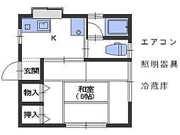 広島県呉市仁方本町2丁目の賃貸アパートの間取り