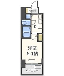 プレサンス梅田北デイズ[407号室]の間取り