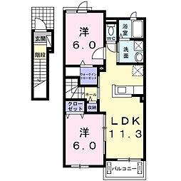 Casa SerenoI[2階]の間取り