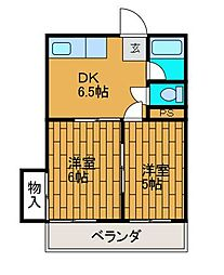 Mハイツ[1階]の間取り