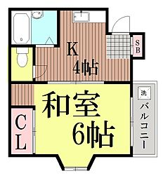 東京都品川区豊町2丁目の賃貸アパートの間取り