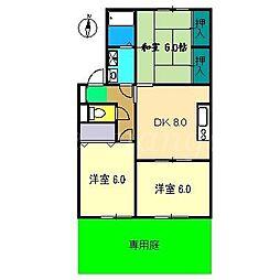 メナージュS A棟[1階]の間取り
