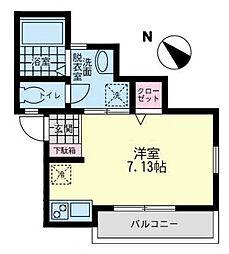 ヌアージュ井土ヶ谷[3階]の間取り