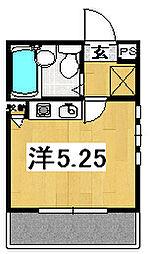 茨城県日立市東町2丁目の賃貸アパートの間取り