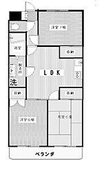 羽田第二ビル[4階]の間取り